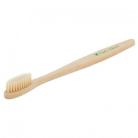 Brosse à dent 100 % organique en bambou, végan