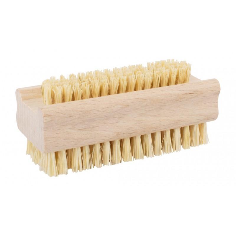 brosse à ongles en bois et sisal