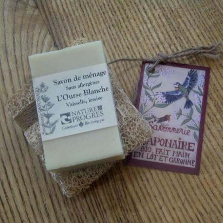 Savon de ménage L'Ourse Blanche, olive et coco
