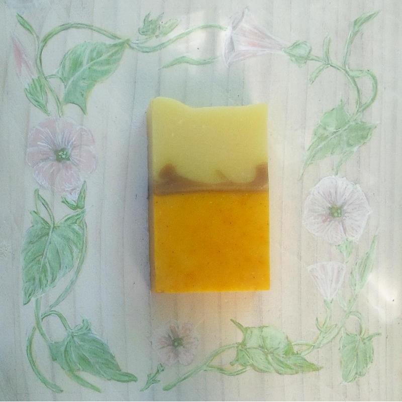 Savon Soleil! Karité & Ylang ylang patchouli et cannelier (5% de surgras)