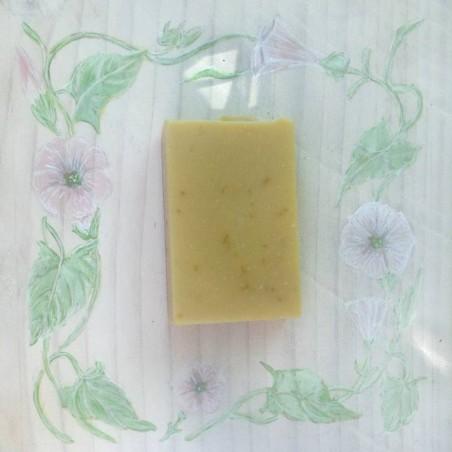 Savon Calendula, karité brut, lait de chèvre, pétales de calendula