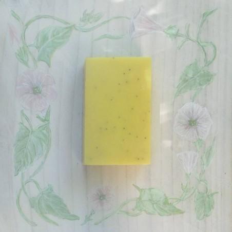 Savon au Karité brut et huiles essentielles de verveine citronnée et menthe poivrée